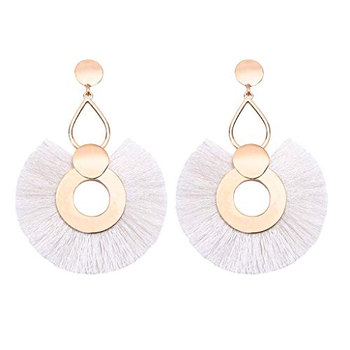 Fashion Drop Dangle Girls Boho Earrings,Londony◈ Bohemian Retro Rose Gold Tassel Earrings Pink Fringe Gifts for Women.