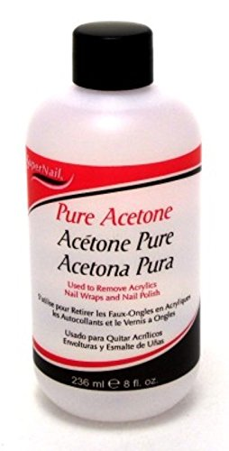 Super Nail Pure Acetone Polish Remover, 8 oz