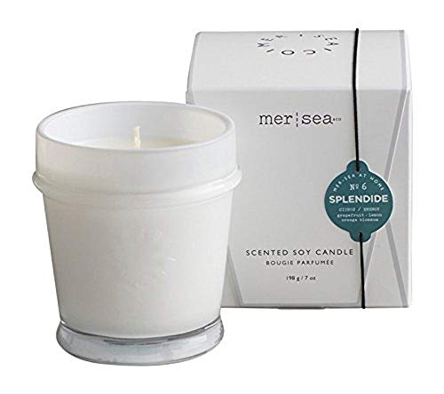 Lime Blossom Soy Wax Candle - Mer Sea Signature Boxed Candle (Splendide)