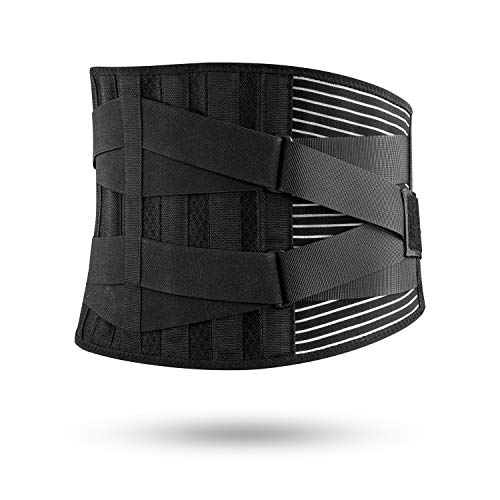 FREETOO Back Brace - Adjustable Back Brace for Lower Back Pain Back Support Lumbar Belt Suppor with Breathable Mesh and Dual Adjustable Straps for Men&Woman(Improved L/XL)