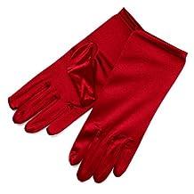ZaZa Bridal Shiny Stretch Satin Dress Gloves Wrist Length 2BL