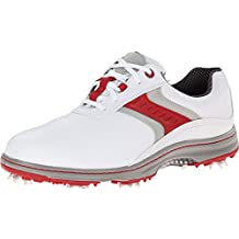 FootJoy Men's CloseOut Contour Series White/Red/Grey Leather 54172 Golf Shoes