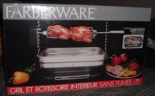 FARBERWARE SMOKELESS INDOOR GRILL ROTISSERIE ELECTRIC by Farberware