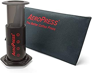 product image for AeroPress Coffee and Espresso Maker with Tote Bag - Quickly Makes Delicious Coffee Without Bitterness - 1 to 3 Cups Per Press