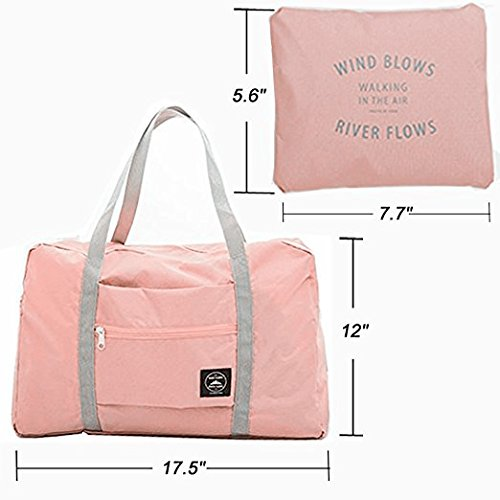 Okdeals Travel Lightweight Foldable Waterproof Carry Storage Luggage Duffle Tote Bag (Pink) by Okdeals (Image #3)
