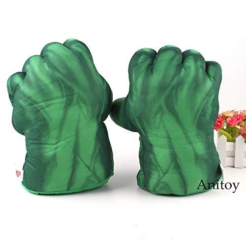 GrandToyZone DOLL SERIES 25cm (9.8 inch) Incredible Hulk Smash Hands Plush Gloves / Nice Gloves / Cosplay Gloves / Incredible Hulk Gloves