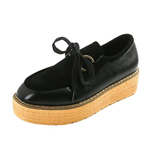 Black Time Platform Comfortable Women Dear Shoes z4SqYvw
