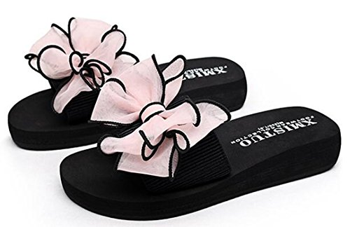 Flops Bohemia Sandals Pink Bumud Flat Flip Shoes Beach Womens qPxx5twH