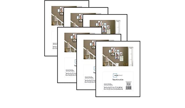 Amazoncom Mainstays 8x10 Matted To 2 4x6 Openings Format