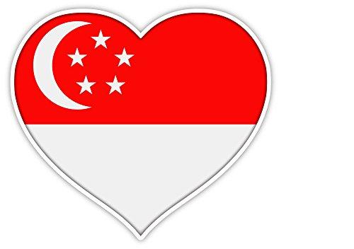 Love Singapore flag heart sticker decal 5