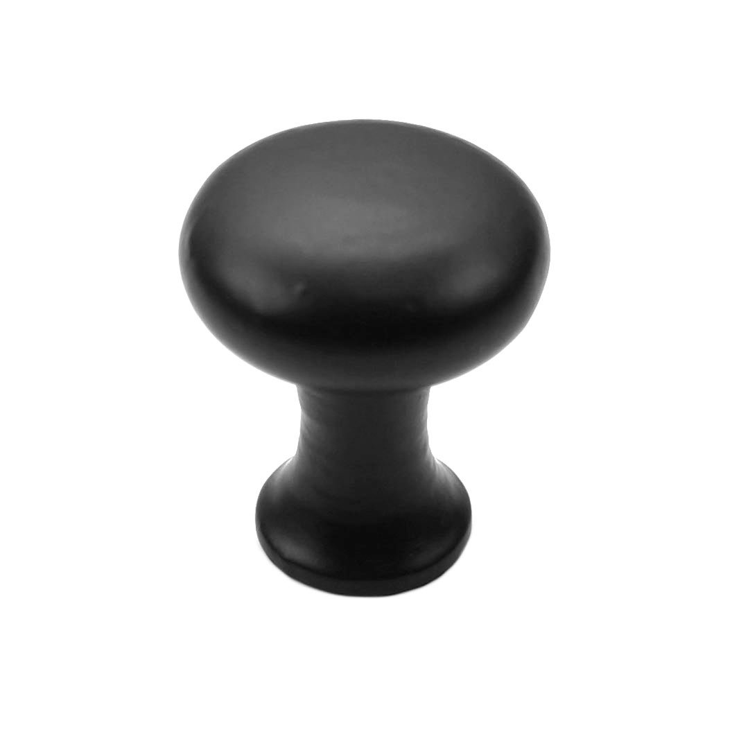Iron Valley - 1-1/8'' Tall Round Cabinet Knob - Pack of (25) - Solid Cast Iron