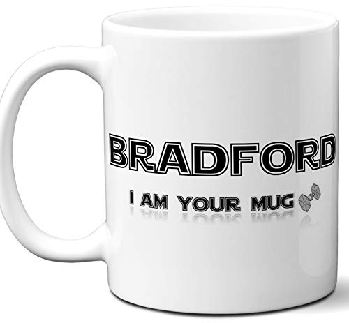 (Personalized Novelty Star Wars Themed Gifts For Men Women. Bradford Name Coffee Mug. Darth Vader I am Your Father Parody. Birthday, Christmas, Xmas. 11 oz.)