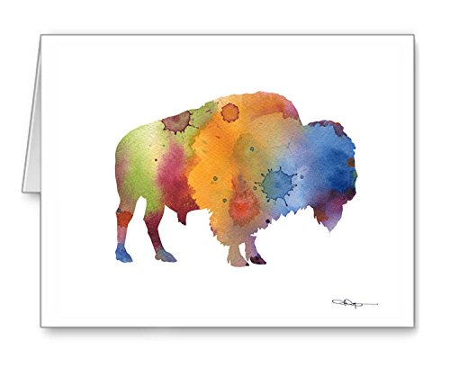 ''Buffalo'' - Set of 10 Note Cards With Envelopes by DJ Rogers Fine Art