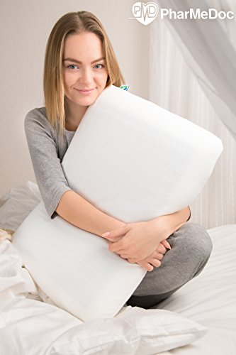 PharMeDoc Memory Foam Pillow with Cooling Gel Technology -Standard/Queen Size 24x16x5.5 -...