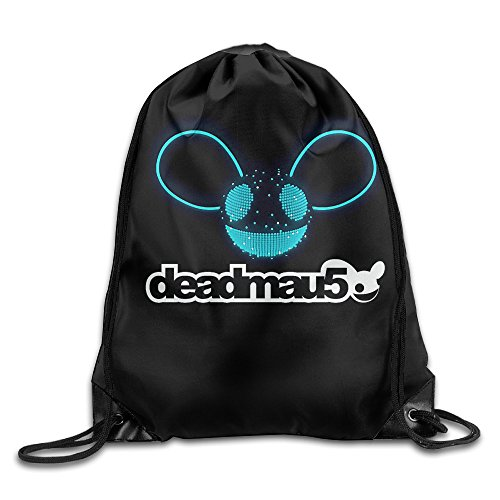 QIDAMIAO Deadmau5 Logo Drawstring Backpack/Bags (Head Deadmau5 Mask)