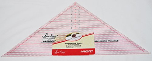 Sew Easy 7 1/2 Inch x 15 Inch 90 Degree Triangle Quilt Ruler NL4172 by Sew Easy
