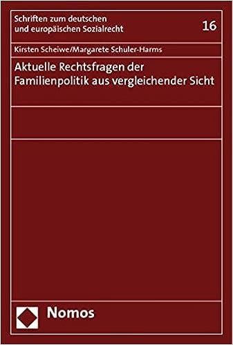 Aktuelle Rechtsfragen Der Familienpolitik Aus Vergleichender Sicht (German Edition)