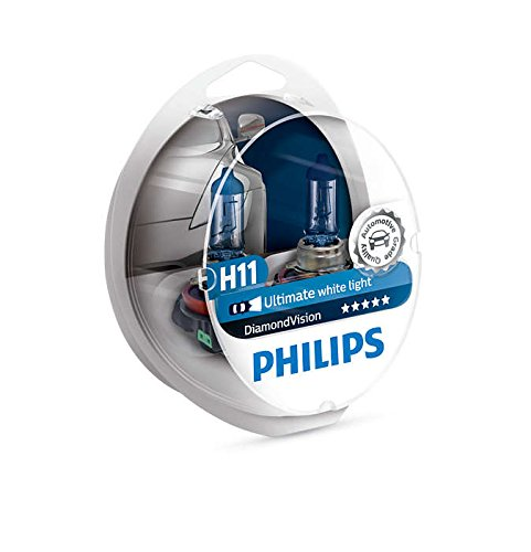 PHILIPS - Diamond Vision H11 Halogen HID Super White 5000K (Pair) ()