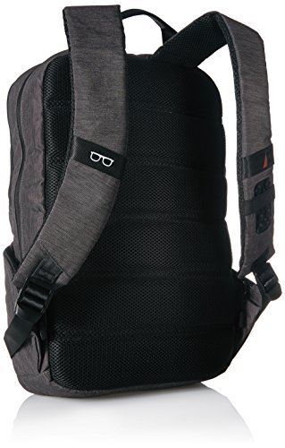 41Cu%2BBe64KL - Nautica Men's Quilted Tech USB Water Resistant Nylon Laptop Backpack, Gray, One Size