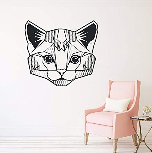 Dalxsh Gato Geométrico Tatuajes De Pared Dormitorio Habitación De ...