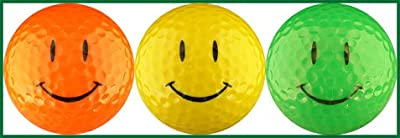 Smiley Face Optic Colors Golf Ball Gift Set