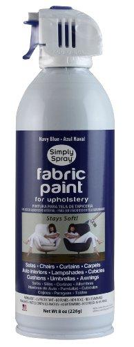 Simply Spray Upholstery Fabric Spray Paint 8 Oz. Can Navy Blue