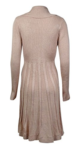 Calvin Klein Womens Cowl Neck Metallic Sweaterdress Photo #3