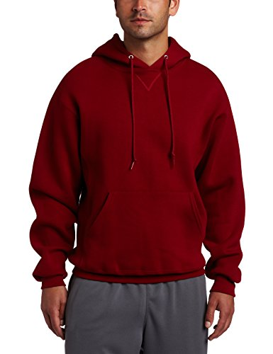 Russell Athletic Men's Dri Power Pullover Fleece Hoodie, Cardinal, Large