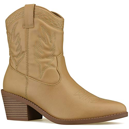 Premier Standard - Western Cowboy Pointed Toe Knee High Pull On Tabs Boots Blond P*