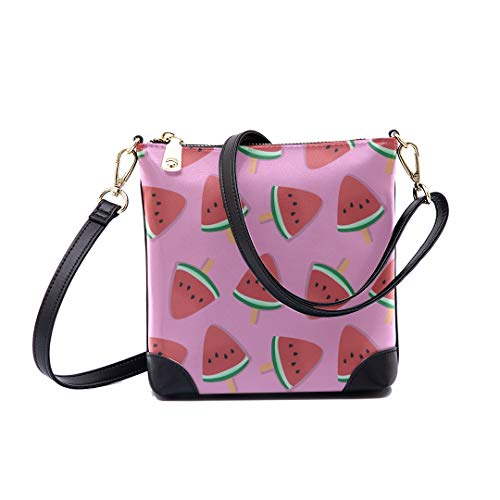 - Shoulder Bag Pastel Watermelon Pattern For Women Bucket Crossbody