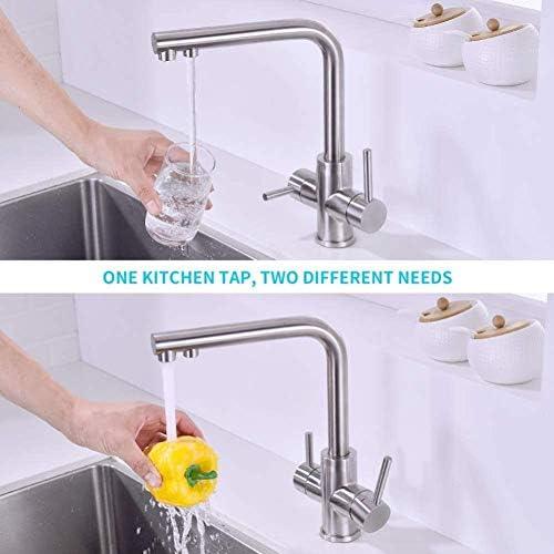 3 1 2シンク混合栓の水浄化三方弁360台所の蛇口と蛇口レバー真鍮キッチンシンク