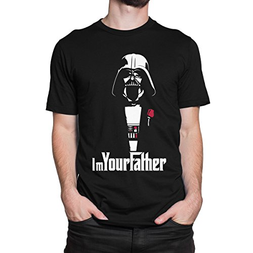 [STAR WARS IM YOUR FATHER DARTH VADER THE GODFATHER Men's PRINT HAUS T-shirt (XX-LARGE, BLACK)] (Cheap Star Wars Shirts)