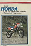 1979-1997 CLYMER HONDA MOTORCYCLE XL/XR 500-650 SINGLES SERVICE MANUAL (969)