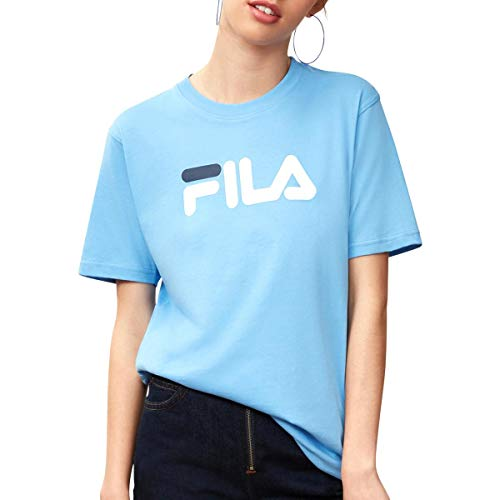 Fila Women's Miss Eagle T-Shirt, Light Blue, White, Peacoat, M