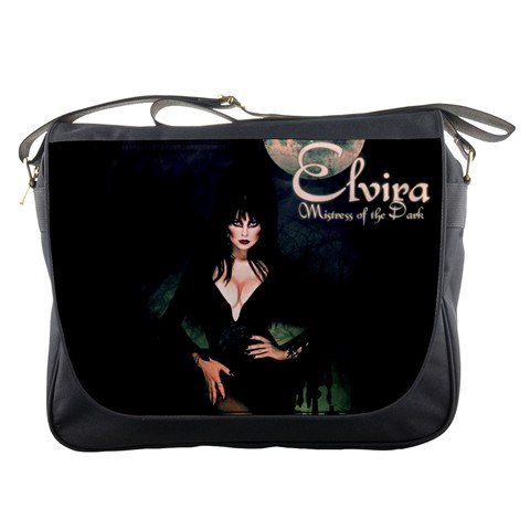 Elvira Mistress Of The Dark Television Series Messenger Bag School Textbook Macbook Ipad Laptop Computer Sling Cross Body (Elvira Birthday)