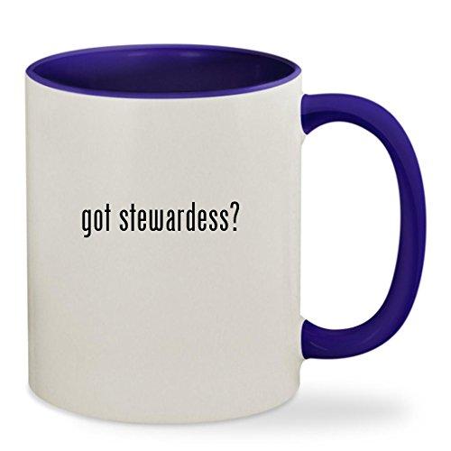 got stewardess? - 11oz Colored Inside & Handle Sturdy Ceramic Coffee Cup Mug, Deep Purple