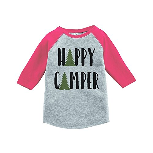 Custom-Party-Shop-Girls-Happy-Camper-Outdoors-Raglan-Tee