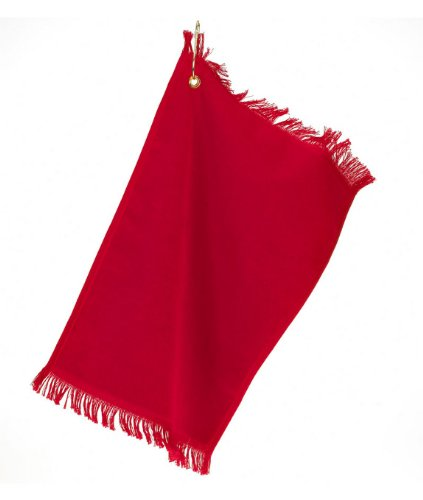Anvil Fingertip Towel With Grommet T60G (O/S-One Size / Red)