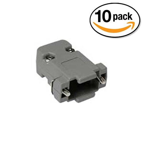 InstallerParts (10 Pack) DB9 Plastic Hoods Screw Type