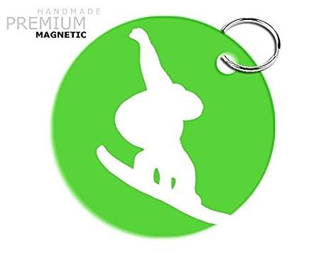 Llavero magnético de la marca JCM, diseño de Snowboard ...