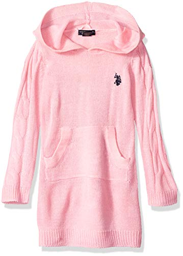 U.S. Polo Assn. Girls' Toddler' Casual Dress, Sweater Light Pink, 3T -