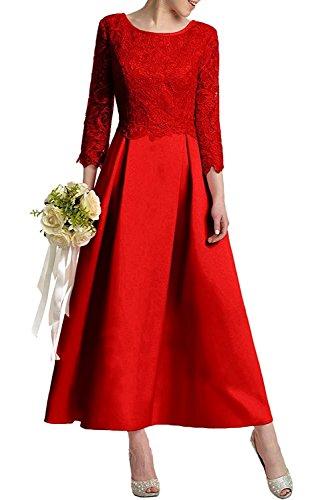 Linie Abendkleider mia Dunkel Satin La Ballkleider Rot Braut Herrlich Rock Knoechellang Pink Brautmutterkleider A Promkleider Spitze dFdwPXq