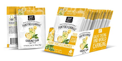 Project 7 Sugar Free Gum, Front Porch Lemonade, 12 Pouches, 144 Pieces - Calorie Desserts