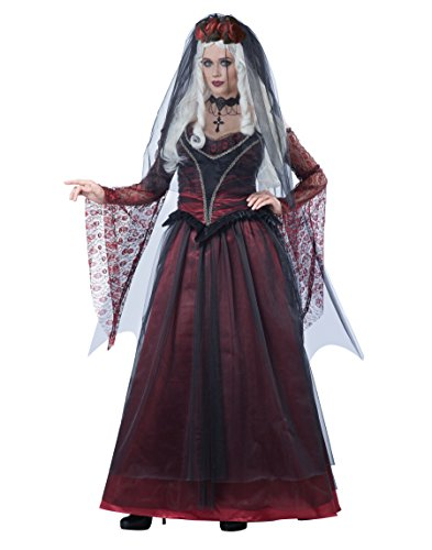 California Costumes Women's Immortal Vampire Bride, Black/red -