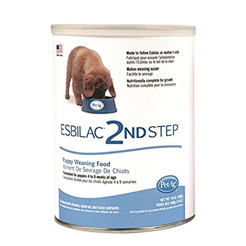 Puppy Milk Replacer Powder Puppy Weaning Food Made in USA 14 oz (Esbilac Milk Replacer Powder)