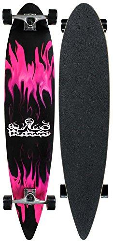 - Krown Purple Flame Complete Longboard Skateboard