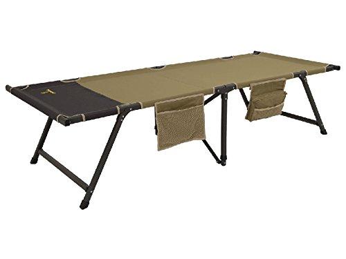 Browning Titan XP Camp Cot Aluminum Frame Polyester Top Khaki and Coal - XL
