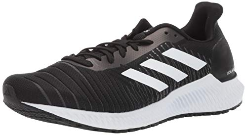 adidas Men's Solar Ride Running Shoe, Black/White/Grey, 8 M US
