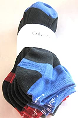 Calvin Klein 6-Pairs Multi Cushioned Sole Athletic Liner Low Cut Socks Sz: 7-12