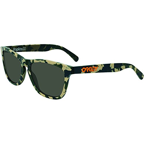 Oakley Mens Koston Frogskins LX Sunglasses, Matte Camo/Dark Grey, One Size